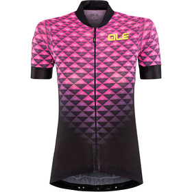 Alé Cycling Solid Hexa SS Jersey Dame black flou pink